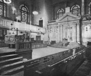 Inside of Synagogue
