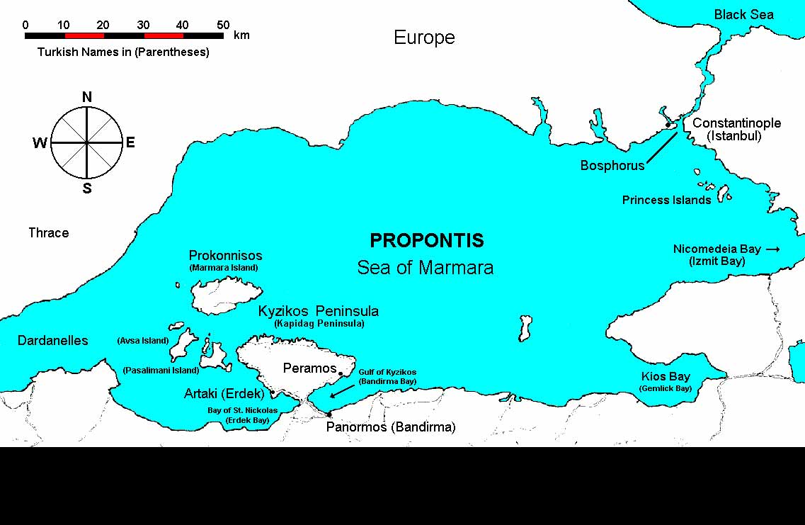 Sea Of Marmara Ancient Greece Map.Maps And Photos
